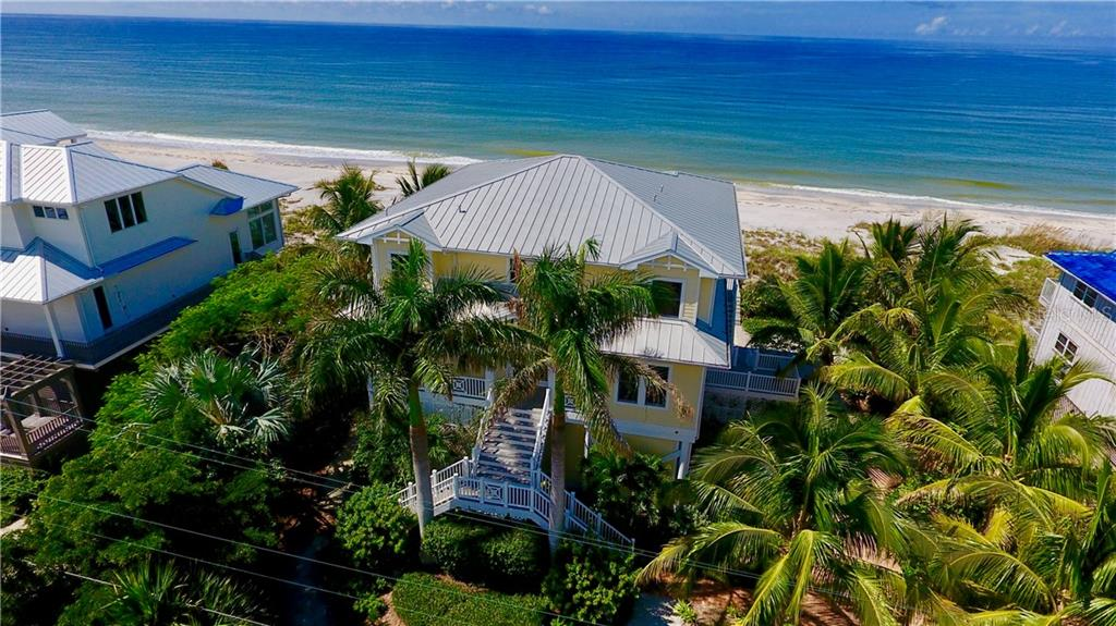 Aerial View of Home-Front. - Single Family Home for sale at 131 S Gulf Blvd, Placida, FL 33946 - MLS Number is D5794327