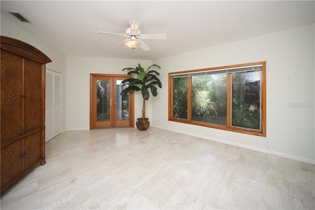 2nd Master Bedroom on main level - Single Family Home for sale at 1850 Bayshore Dr, Englewood, FL 34223 - MLS Number is D5919513