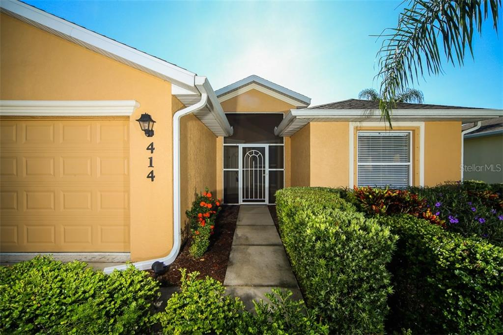 Screened entry way - Single Family Home for sale at 414 Tomoka Dr, Englewood, FL 34223 - MLS Number is D5919831