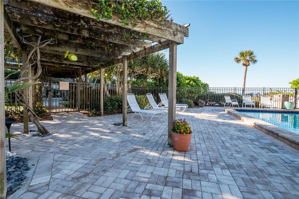 Covered BBQ area by pool - Condo for sale at 5700 Gulf Shores Dr #a-321, Boca Grande, FL 33921 - MLS Number is D5921925