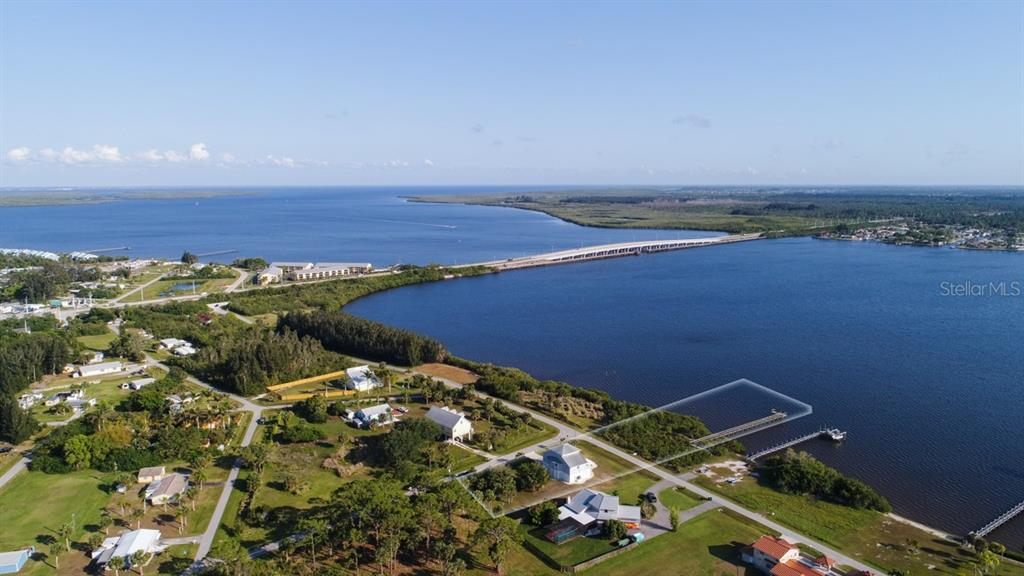 Waterfront Property Aerial - Single Family Home for sale at 14241 River Beach Dr, Port Charlotte, FL 33953 - MLS Number is D5924121