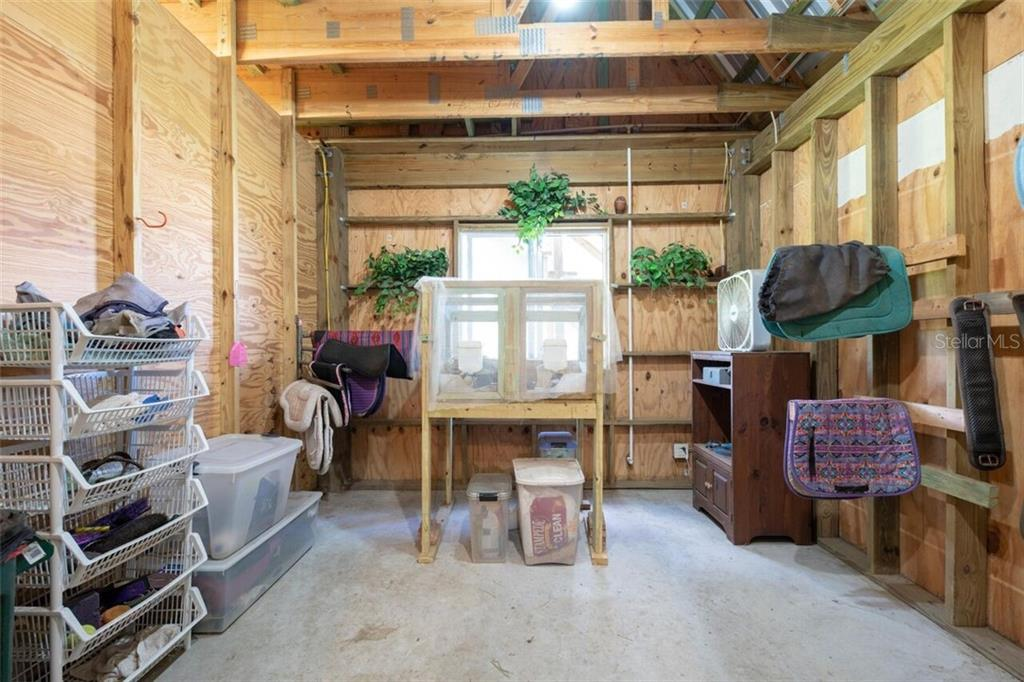 The 12 x 12 tack room has room for some guinea pigs too! - Single Family Home for sale at 7339 Hawkins Rd, Sarasota, FL 34241 - MLS Number is D6102762