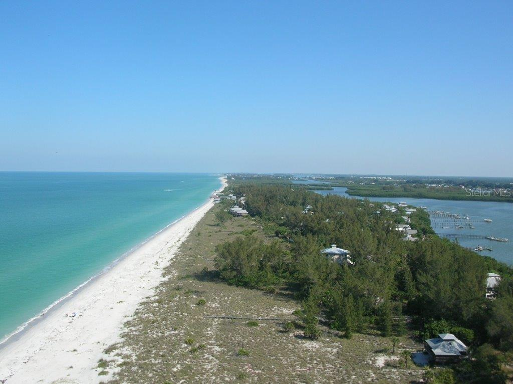 Aerial View of the Beach. - Single Family Home for sale at 5 Pointe Way, Placida, FL 33946 - MLS Number is D6110468