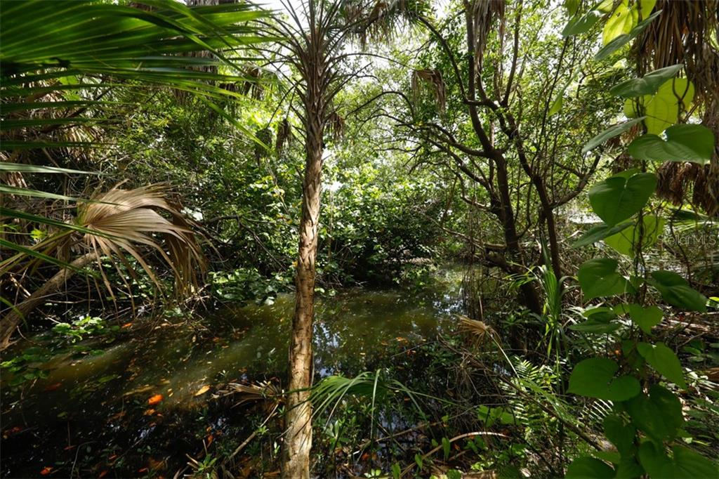 Canal surrounded by tropical plants - Vacant Land for sale at 9427 Downing St, Englewood, FL 34224 - MLS Number is D6112667