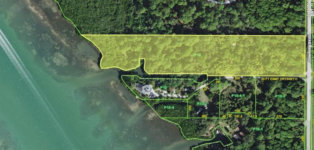 property in yellow -boat basin/salt water canal on southern border - Vacant Land for sale at 9427 Downing St, Englewood, FL 34224 - MLS Number is D6112667