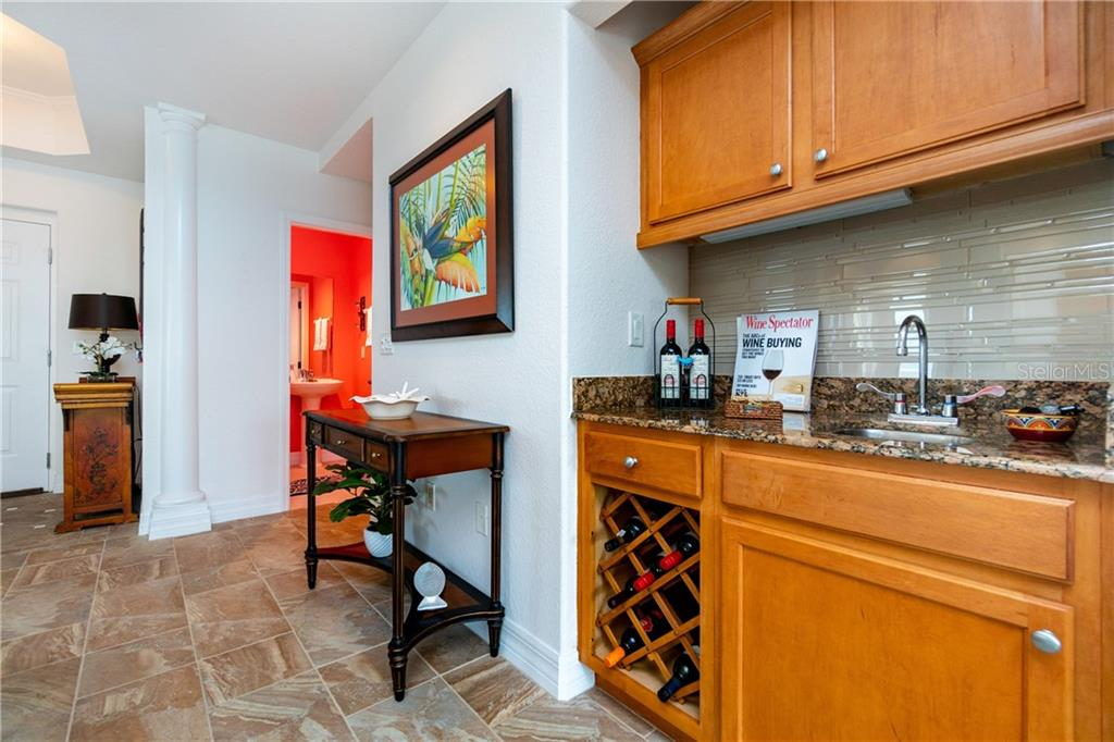 Accessible Wet bar - Condo for sale at 2225 N Beach Rd #401, Englewood, FL 34223 - MLS Number is D6114646
