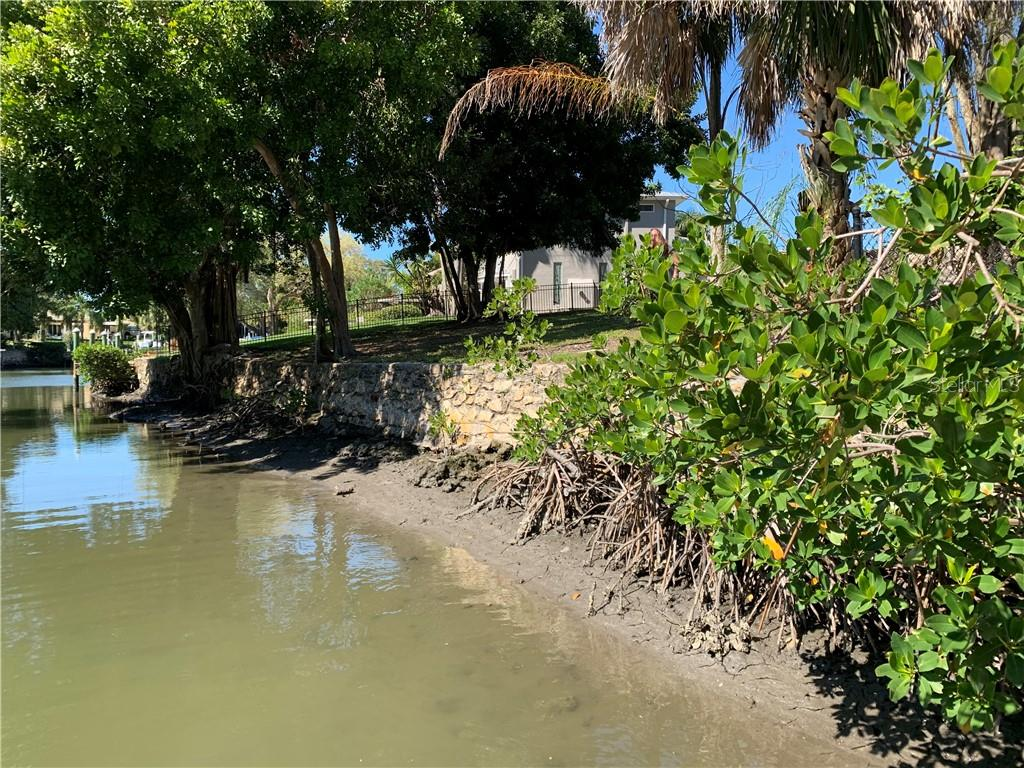 Coral Cove original Seawall, with drainage scuppers. - Vacant Land for sale at 7438 Cove Ter #1, Sarasota, FL 34231 - MLS Number is D6116556