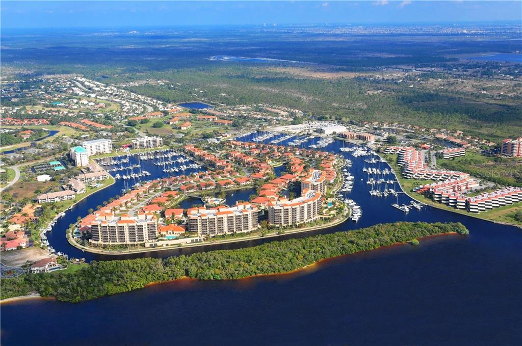 Aerial of Burnt Store Marina - Single Family Home for sale at 112 Big Pine Ln, Punta Gorda, FL 33955 - MLS Number is C7228044