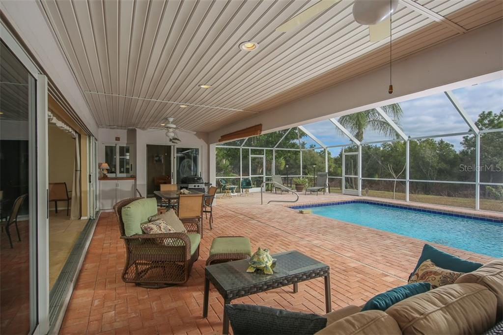 Beam at Lanai has clear span with no columns to obstruct the expansive outdoor space - Single Family Home for sale at 2332 Mauritania Rd, Punta Gorda, FL 33983 - MLS Number is C7234250