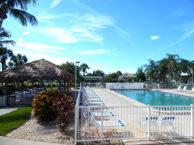 Large heated pool - Manufactured Home for sale at 11 Holland Ave, Punta Gorda, FL 33950 - MLS Number is C7401035