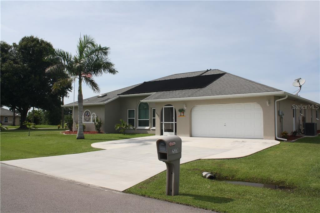 Front of home. - Single Family Home for sale at 25378 Rupert Rd, Punta Gorda, FL 33983 - MLS Number is C7403652