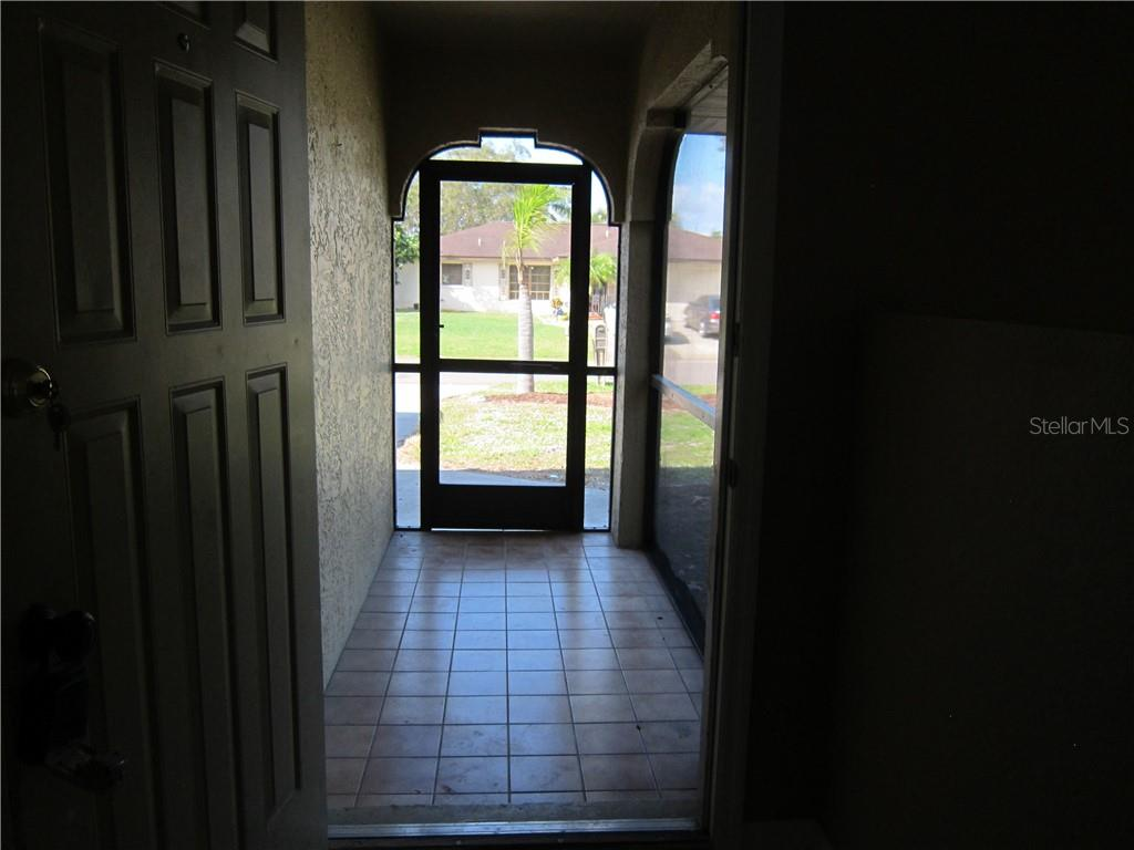 Screened entryway - Single Family Home for sale at 1170 Richter St, Port Charlotte, FL 33952 - MLS Number is C7411803