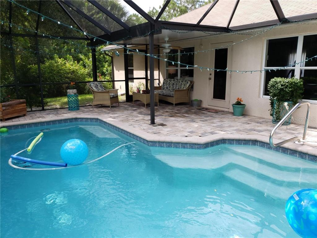 Pool/Lanai private all 3 sides - Single Family Home for sale at 2903 Wells Ave, North Port, FL 34286 - MLS Number is C7416525