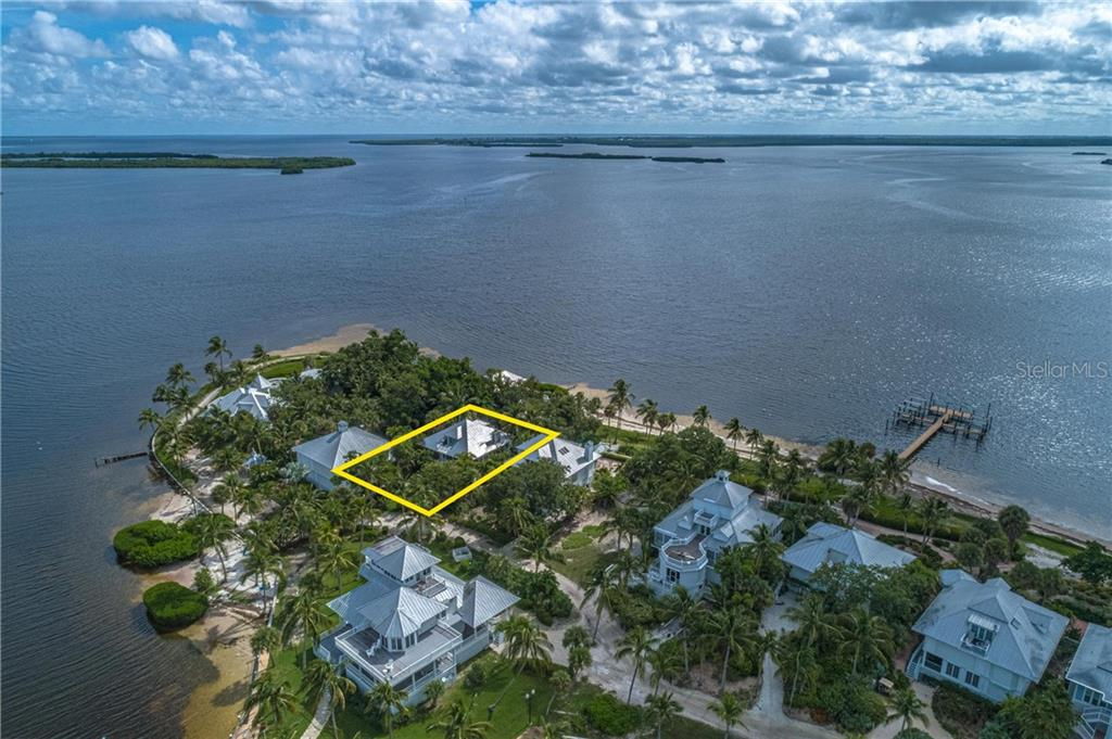 The home is located near the southeast tip of the island - Single Family Home for sale at 124 Useppa Is, Captiva, FL 33924 - MLS Number is C7419408