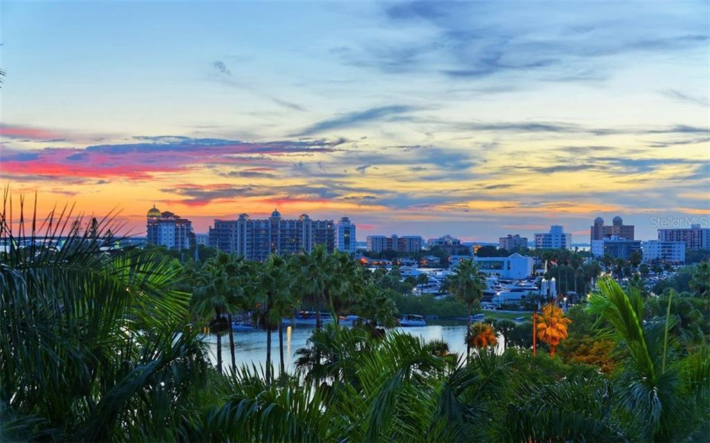 Sunset views looking towards Golden Gate Point - Condo for sale at 500 S Palm Ave #41, Sarasota, FL 34236 - MLS Number is A4144835