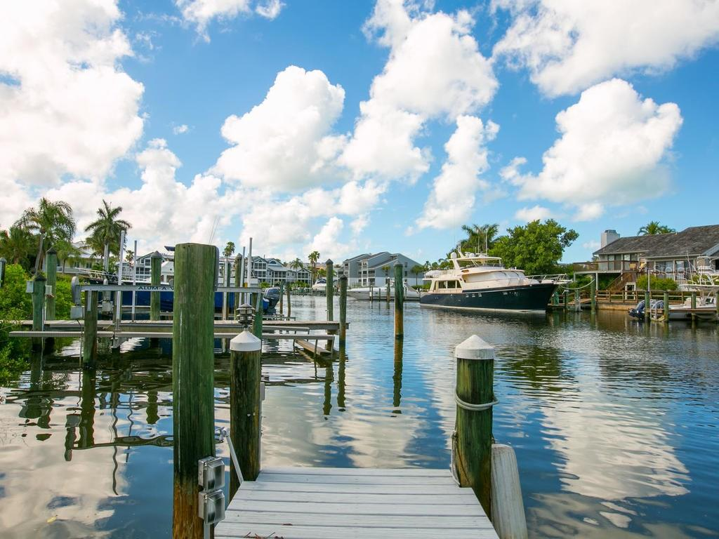 Dock and water views - Single Family Home for sale at 1272 Riegels Landing Dr, Sarasota, FL 34242 - MLS Number is A4160033