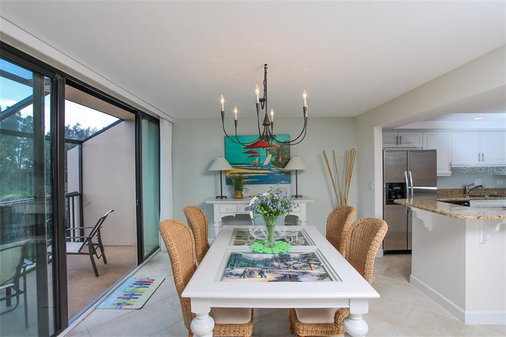 Dining area - Condo for sale at 4900 Ocean Blvd #503, Sarasota, FL 34242 - MLS Number is A4171070