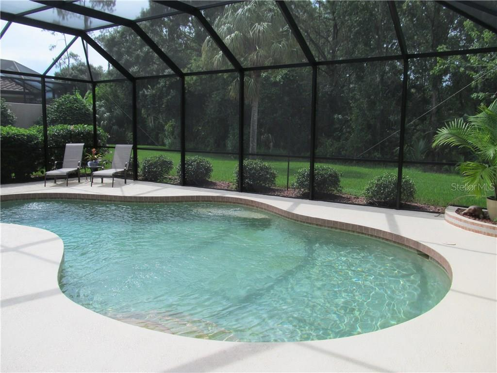 NEWLY PAINTED DECK, AND NEW SCREENING IN POOL AREA. - Single Family Home for sale at 7007 Chickasaw Bayou Rd, Bradenton, FL 34203 - MLS Number is A4177136