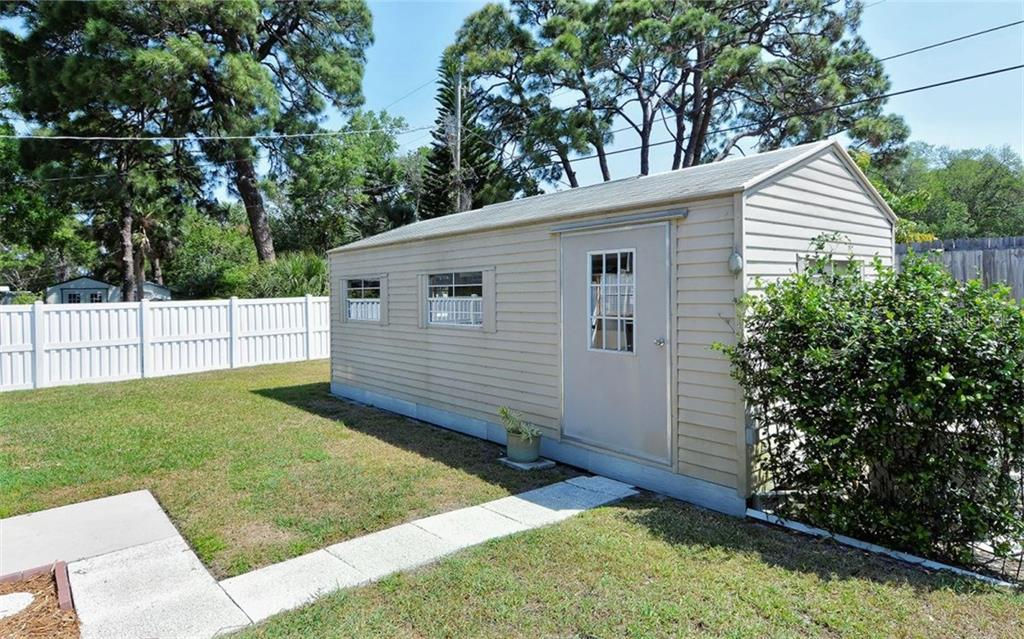 24 X 12 workshop or storage room.  Great for any project! - Single Family Home for sale at 6239 Hollywood Blvd, Sarasota, FL 34231 - MLS Number is A4182790
