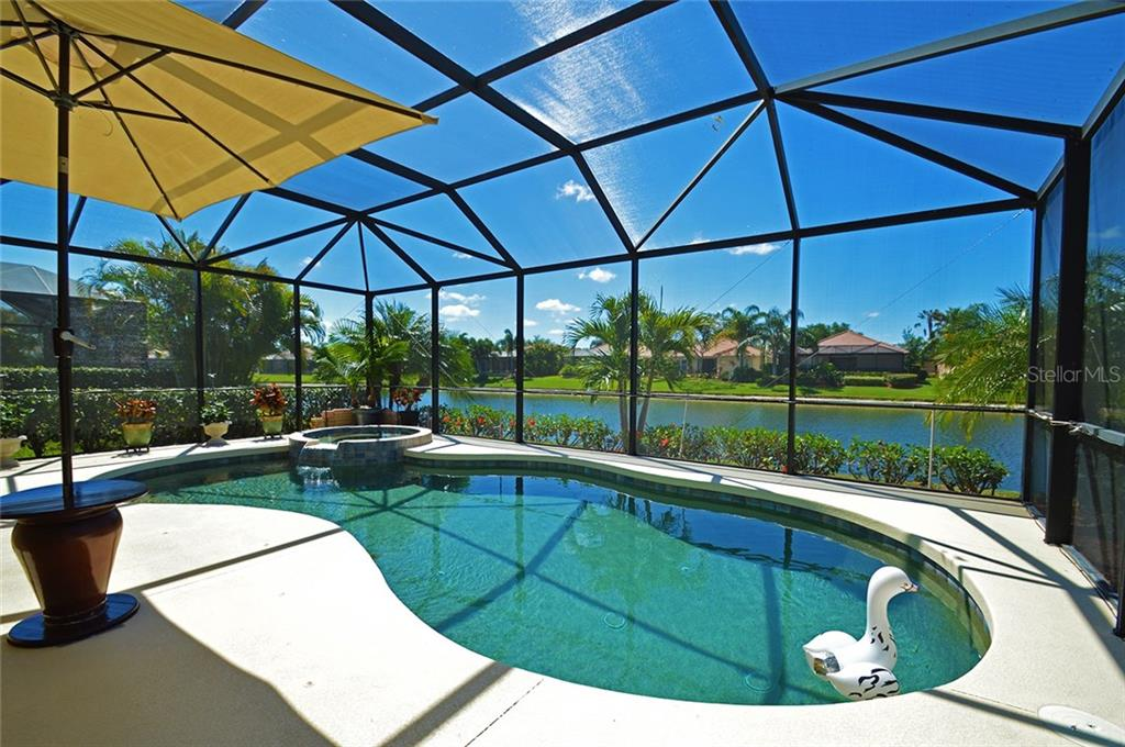 Pool, Spa and Lake - Single Family Home for sale at 9006 Heritage Sound Dr, Bradenton, FL 34212 - MLS Number is A4183771
