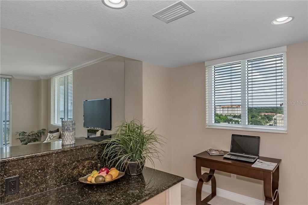 You'll be tickled by the morning sunrise views over the city and enjoy this balcony.  Sit back and enjoy! - Condo for sale at 800 N Tamiami Trl #1201, Sarasota, FL 34236 - MLS Number is A4184297