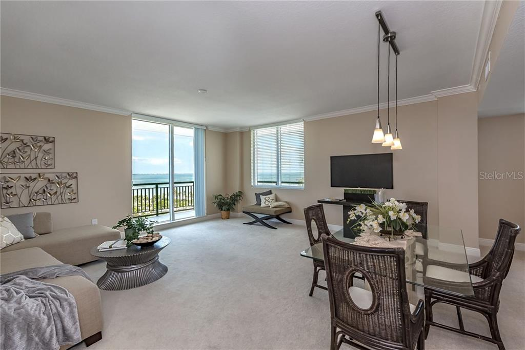 The 12th floor condo offers paramount views, above the tree line. - Condo for sale at 800 N Tamiami Trl #1201, Sarasota, FL 34236 - MLS Number is A4184297