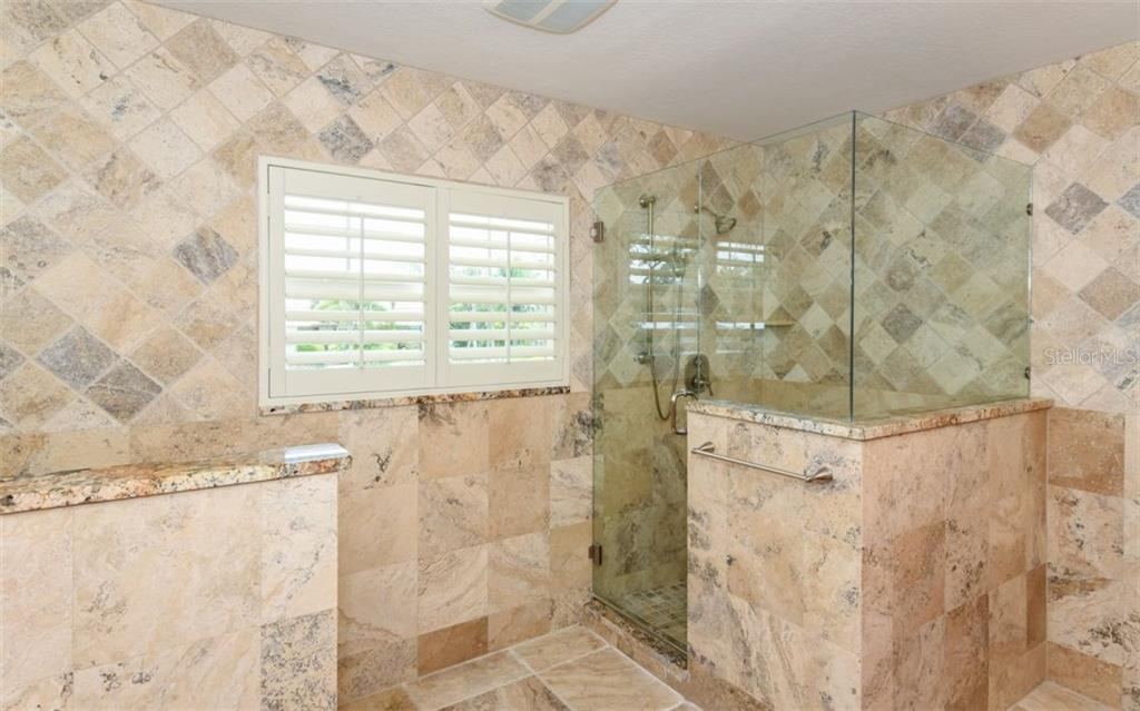 Walk in shower!! - Single Family Home for sale at 1627 Shelburne Ln, Sarasota, FL 34231 - MLS Number is A4184556