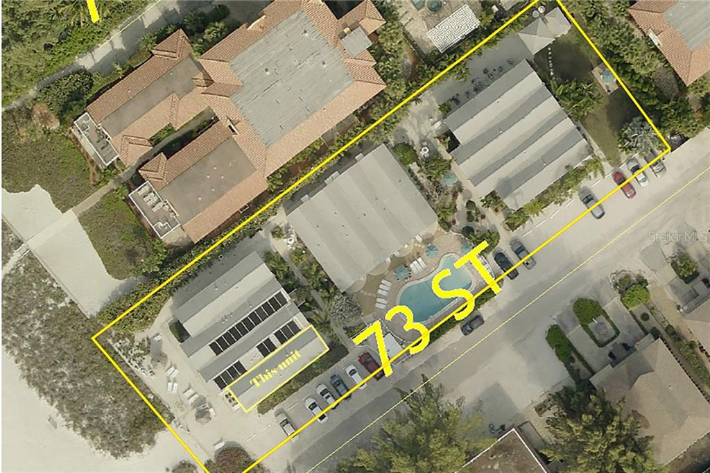 Overview showing unit location - Condo for sale at 100 73rd St #204a, Holmes Beach, FL 34217 - MLS Number is A4185340