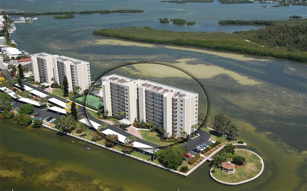 Aerial - Condo for sale at 9397 Midnight Pass Rd #403, Sarasota, FL 34242 - MLS Number is A4185842