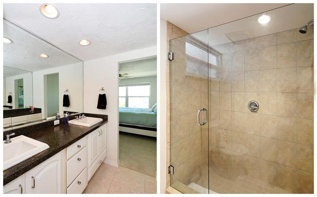 Master Bath including Shower Photo. - Condo for sale at 4330 Falmouth Dr #307, Longboat Key, FL 34228 - MLS Number is A4187329