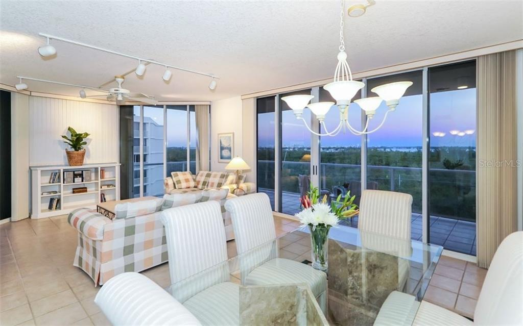 North East corner end unit facing Sarasota Bay and city light. - Condo for sale at 1800 Benjamin Franklin Dr #b507, Sarasota, FL 34236 - MLS Number is A4188540