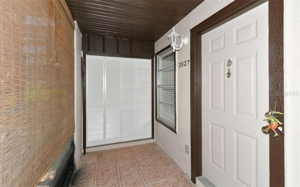 Front porch entry. - Condo for sale at 3827 59th Ave W #4157, Bradenton, FL 34210 - MLS Number is A4190340