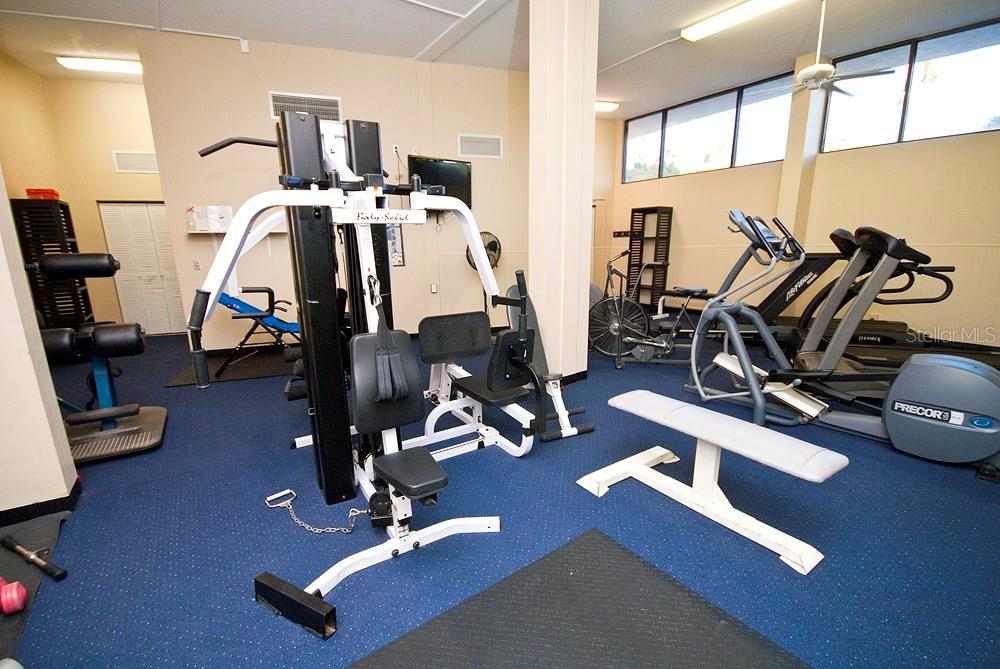 Community fitness room - Condo for sale at 5855 Midnight Pass Rd #628, Sarasota, FL 34242 - MLS Number is A4190416