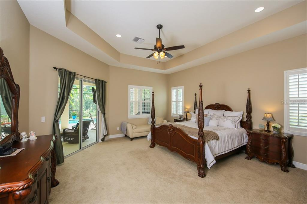 Large Master Suite with Direct Access to Lanai/Pool - Single Family Home for sale at 5770 Rock Dove Dr, Sarasota, FL 34241 - MLS Number is A4190439