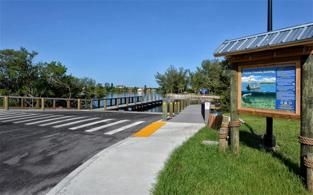 Boat launch ramp at Blackburn Pt. Park - Condo for sale at 104 Woodland Pl #104, Osprey, FL 34229 - MLS Number is A4190676