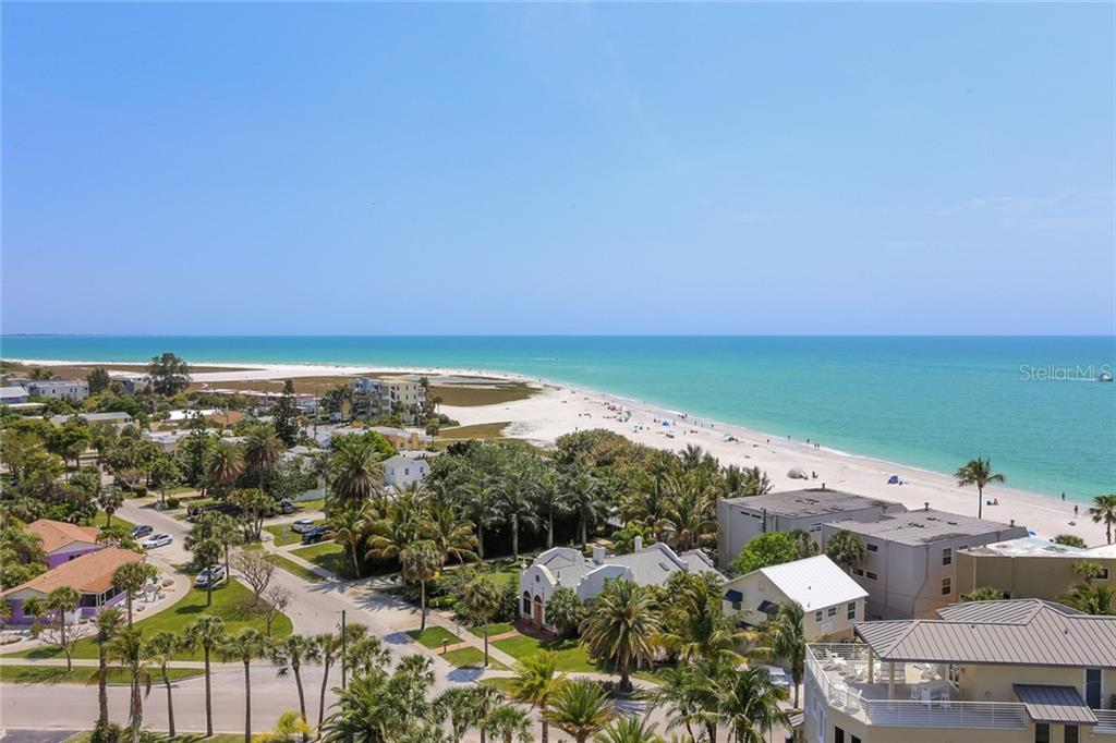 View of Gulf of Mexico and beach - Condo for sale at 20 Whispering Sands Dr #1103, Sarasota, FL 34242 - MLS Number is A4192663
