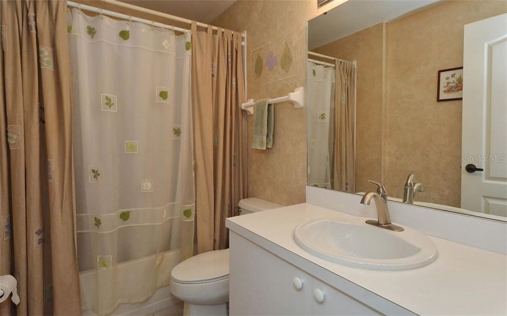 Guest bath. - Condo for sale at 9570 High Gate Dr #1712, Sarasota, FL 34238 - MLS Number is A4196327