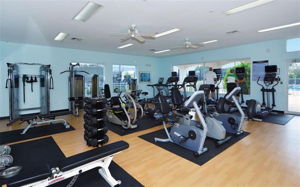Stoneybrook Golf & Country Club well-equipped fitness center. - Condo for sale at 9570 High Gate Dr #1712, Sarasota, FL 34238 - MLS Number is A4196327