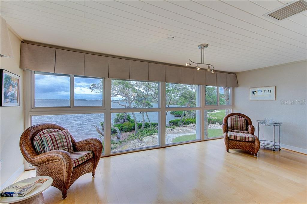 Living area is right on the water with ample room for bird or boat watching - Condo for sale at 600 Manatee Ave #236, Holmes Beach, FL 34217 - MLS Number is A4197636