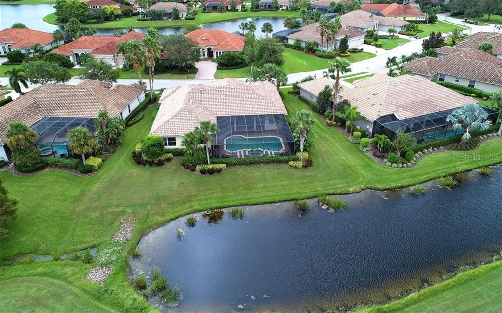 Aerial Back Exterior - Single Family Home for sale at 9919 Portside Ter, Bradenton, FL 34212 - MLS Number is A4197815