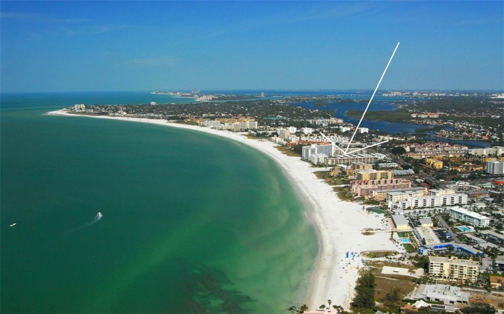 Aerial view - Condo for sale at 6308 Midnight Pass Rd #4, Sarasota, FL 34242 - MLS Number is A4198360