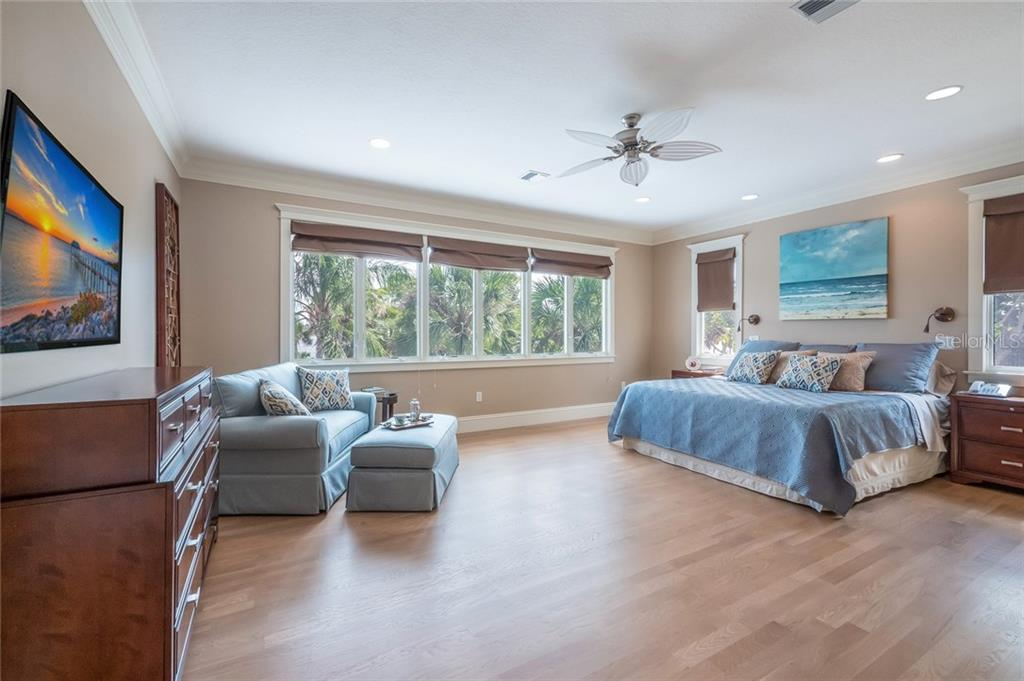 Master Bedroom Bay Views - Single Family Home for sale at 420 N Casey Key Rd, Osprey, FL 34229 - MLS Number is A4198418