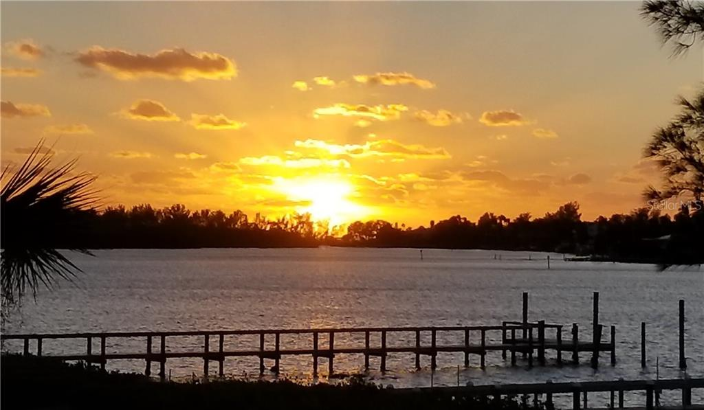 Shot from the dock. - Single Family Home for sale at 105 Sunset Dr, Nokomis, FL 34275 - MLS Number is A4201365