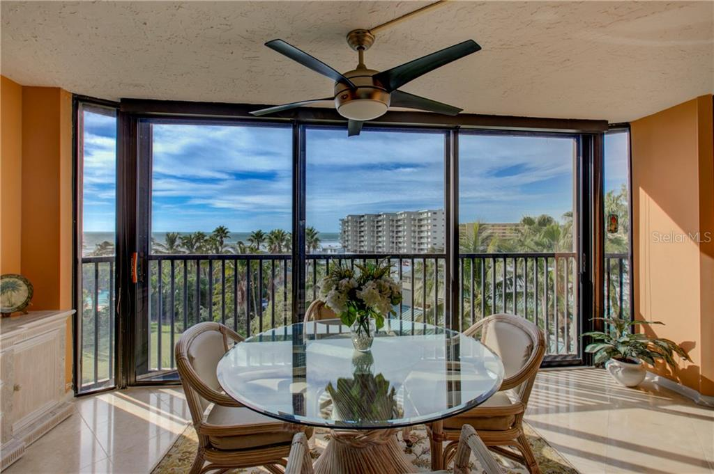 Enclosed lanai with view of Gulf - Condo for sale at 5880 Midnight Pass Rd #610, Sarasota, FL 34242 - MLS Number is A4204670