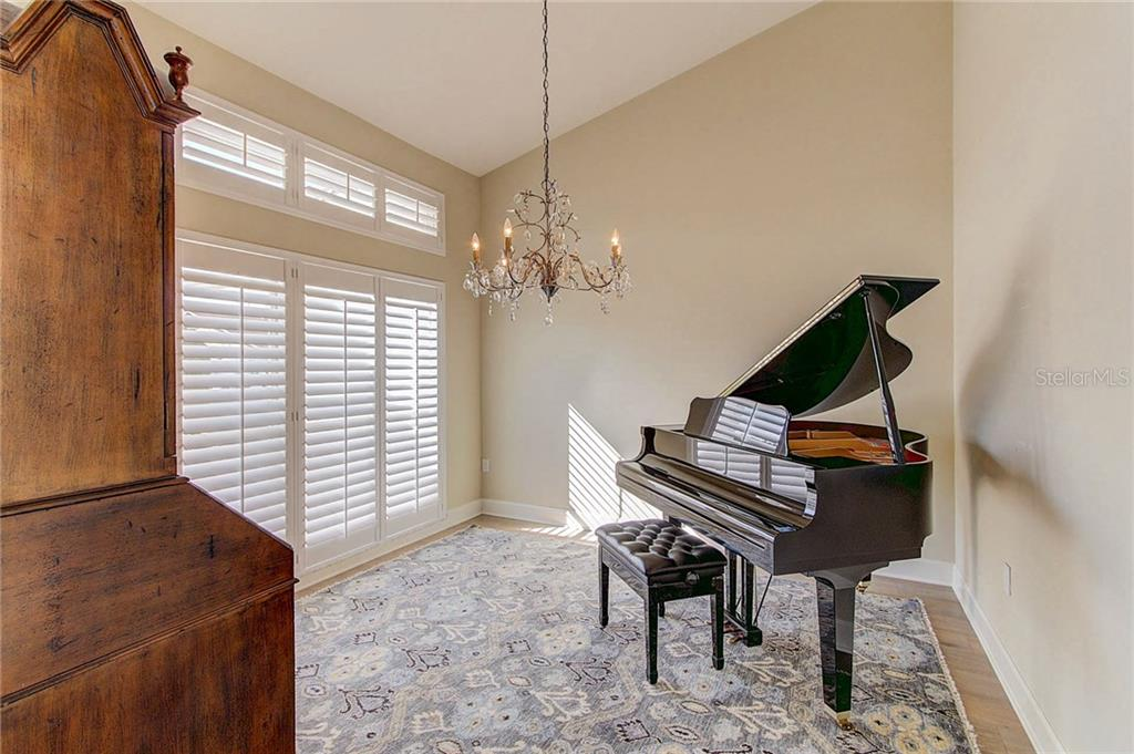Flex room with plantation shutters, perfect for music or dining room. - Single Family Home for sale at 3508 Avenida Madera, Bradenton, FL 34210 - MLS Number is A4205393