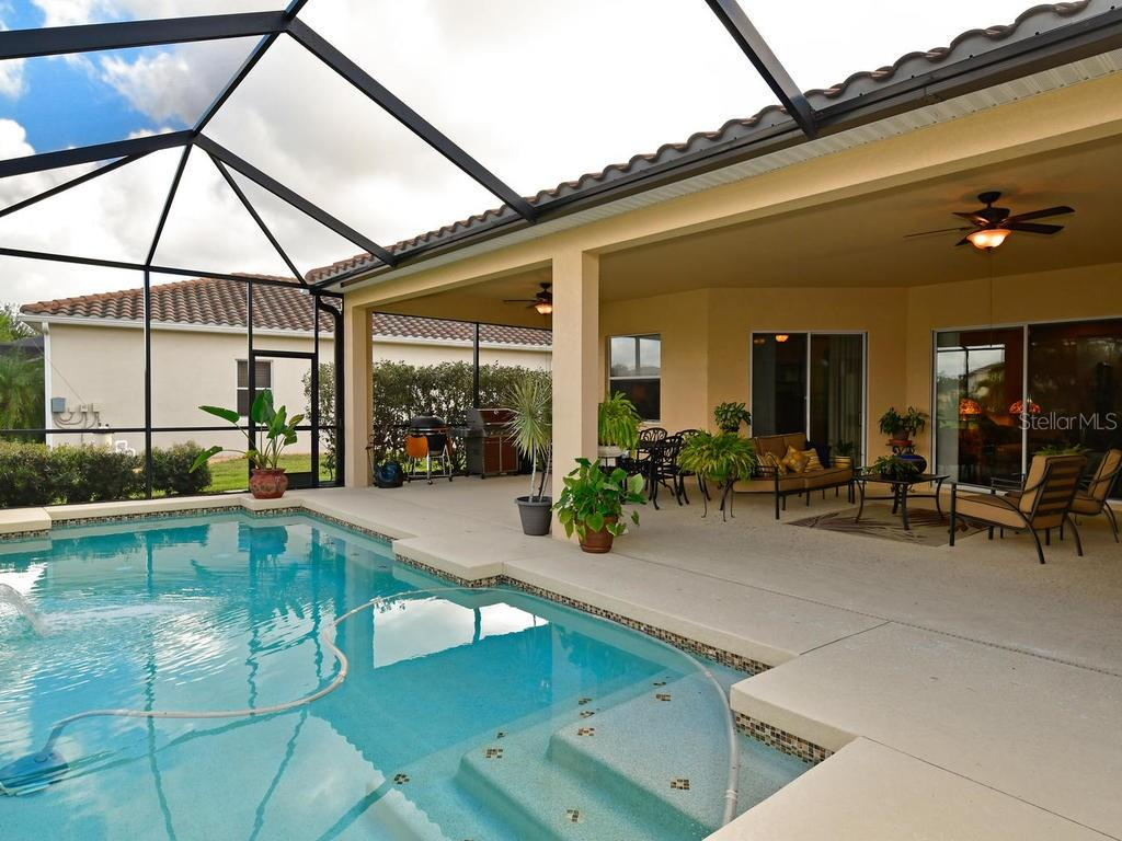 Cool off in the gorgeously tiled custom pool - Single Family Home for sale at 6601 Horned Owl Pl, Sarasota, FL 34241 - MLS Number is A4205612