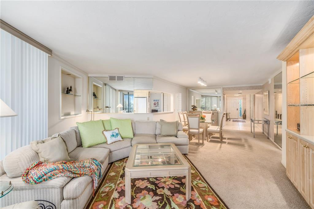 Living/Dining room - Condo for sale at 5880 Midnight Pass Rd #511, Sarasota, FL 34242 - MLS Number is A4207131