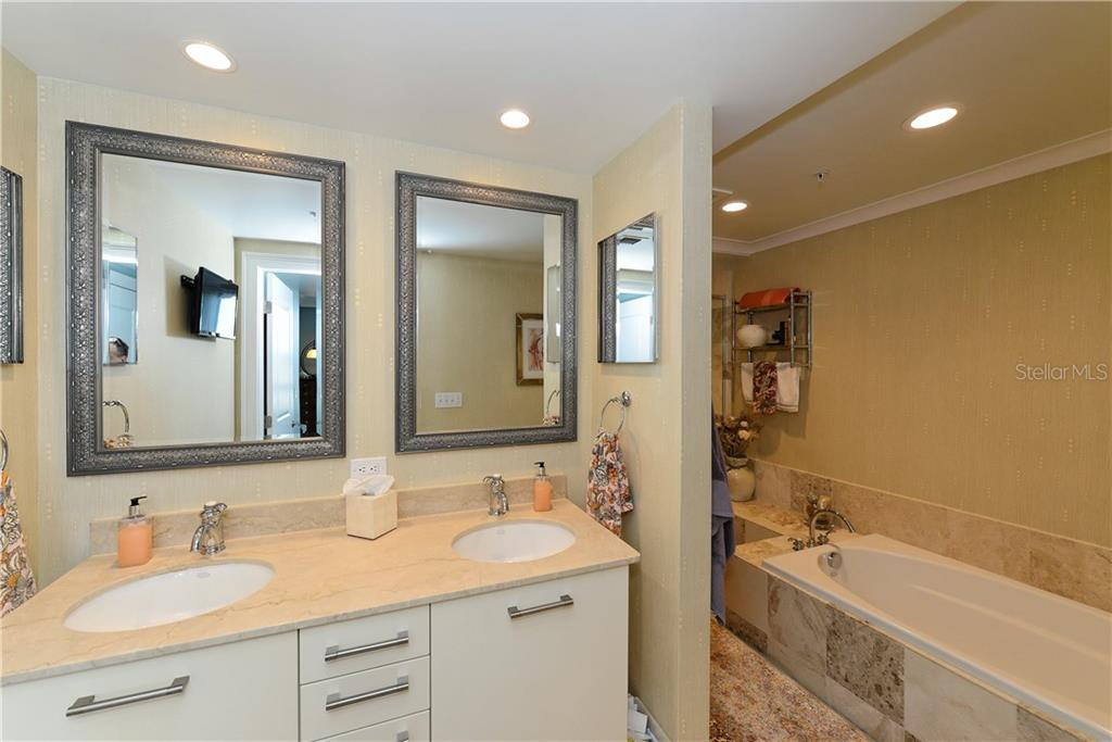 Master Bathroom with Double Vanity. - Condo for sale at 1350 Main St #1106, Sarasota, FL 34236 - MLS Number is A4209424