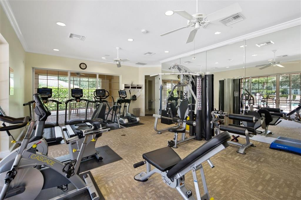 Fitness center at clubhouse. - Condo for sale at 6540 Moorings Point Cir #202, Lakewood Ranch, FL 34202 - MLS Number is A4403403