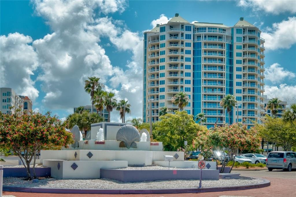 View of Sarabande from Bayfront Park - Condo for sale at 340 S Palm Ave #412, Sarasota, FL 34236 - MLS Number is A4403968